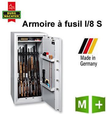 ARMOIRE À FUSIL BURG-WÄCHTER - RANGER1/8S - CLÉ