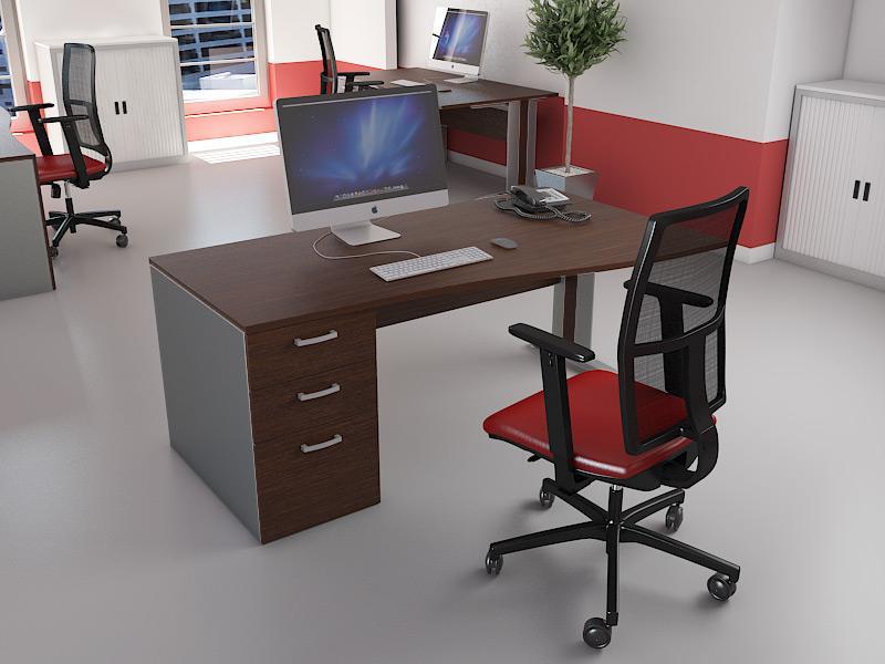 bureaux avec caissons comparez les prix pour professionnels sur page 1. Black Bedroom Furniture Sets. Home Design Ideas