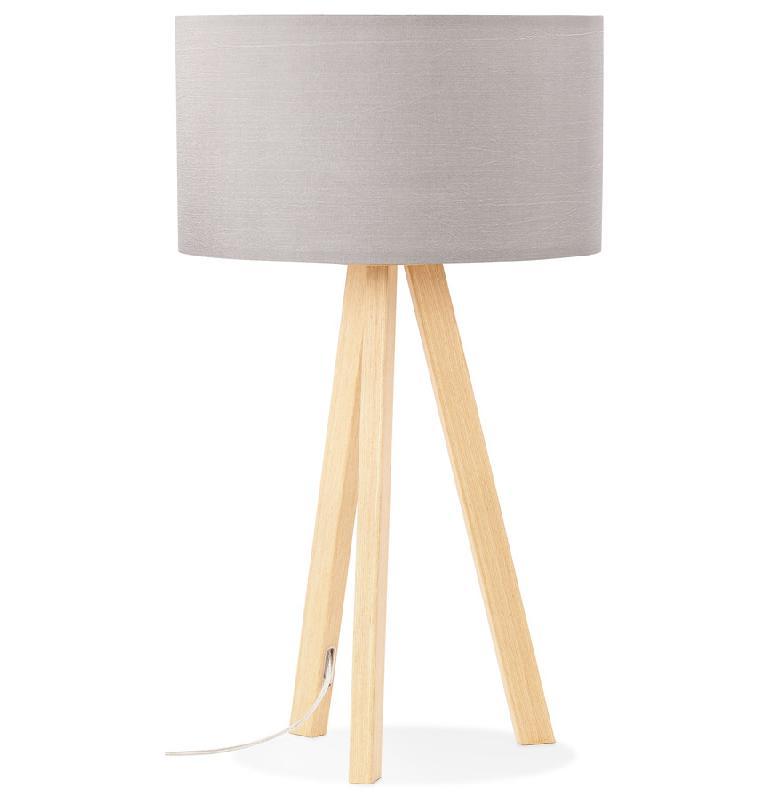 Lampe poser trepied 39 spring mini 39 avec abat jour gris - Abat jour scandinave ...