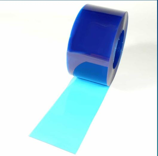 Lanière pvc souple translucide bleu / opaque / 200 x 2 mm