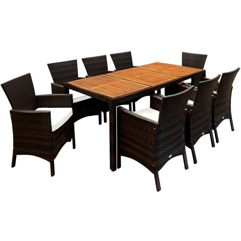 SALON DE JARDIN ATLAS EN BOIS D\'ACACIA CERTIFIÉ FSC® TABLE ET ...