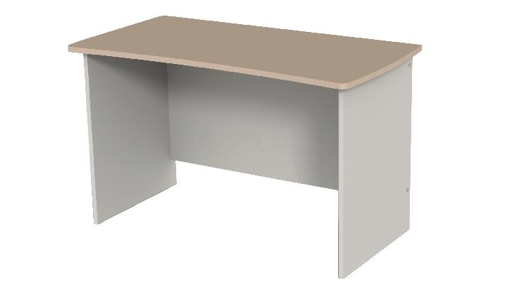 TABLE BUREAU CURVE AR u00c8S SIMPLE 120X60 CM C u00d4TÉ GRIS GRAPHITE FA u00c7ADE VERT ANIS TEINTE BOIS
