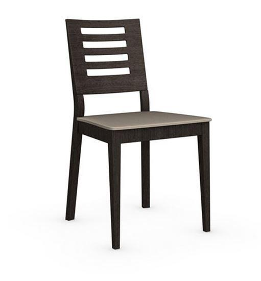 Calligaris chaise italienne style  structure wengé assise tissus
