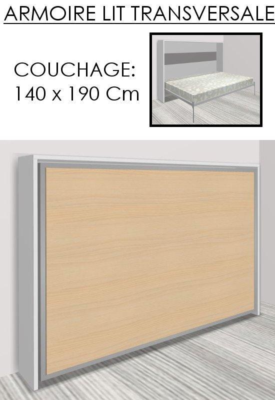 armoire lit escamotable athena bicolore blanche et hetre. Black Bedroom Furniture Sets. Home Design Ideas