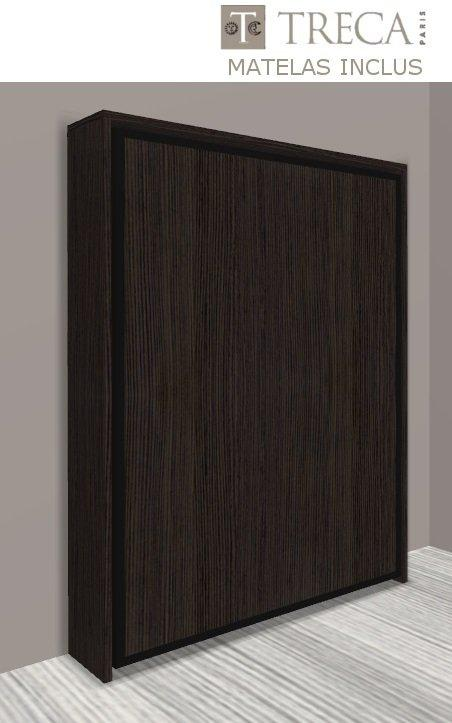 Promo armoire lit escamotable cronos ch ne anthracite - Lit escamotable prix discount ...
