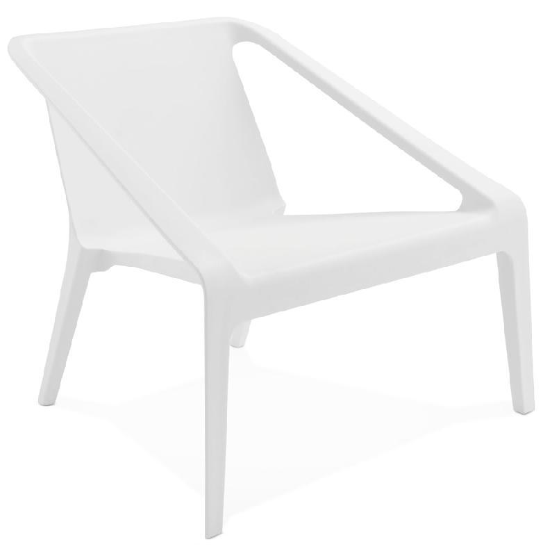 Fauteuil Lounge De Jardin 39 Sunny 39 Blanc En Mati Re