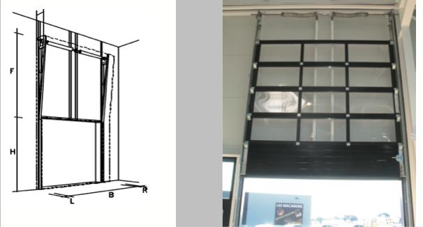 Portes sectionnelles industrielles relevages vertical - Porte sectionnelle industrielle occasion ...