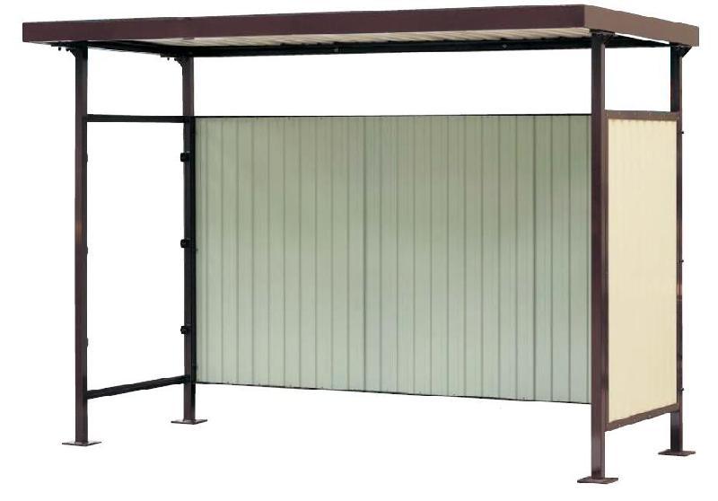 Abri bus casio plus / structure en acier / bardage en bacacier / 385 x 152 cm