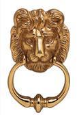Heurtoir de porte en laiton poli tete de lion - Heurtoir de porte tete de lion ...