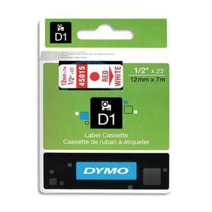 DYM RUBN DYMO D1 12MMX7M RGE/BLC 45015