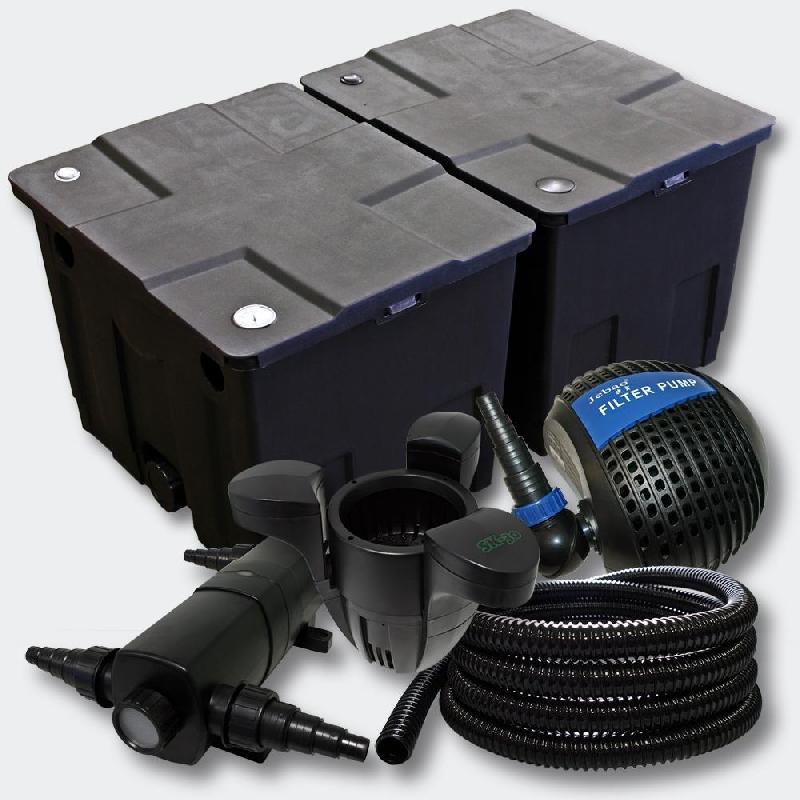 Kit de filtration de bassin 60000l stérilisateur 18 watts pompe skimmer 4216497
