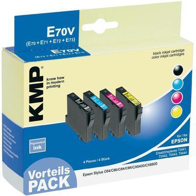 PACK DE CARTOUCHES COMPATIBLE KMP E70V REMPLACE EPSON T0441, T0442, T044