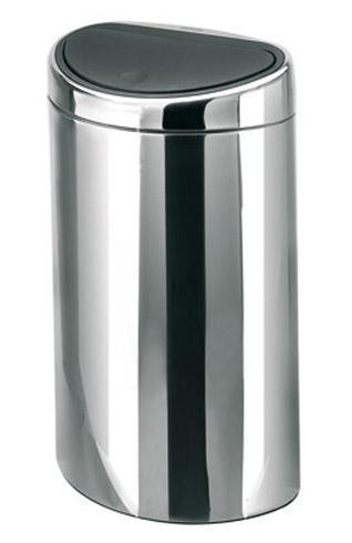 poubelle 40 litres brabantia touch bin ovale inox. Black Bedroom Furniture Sets. Home Design Ideas
