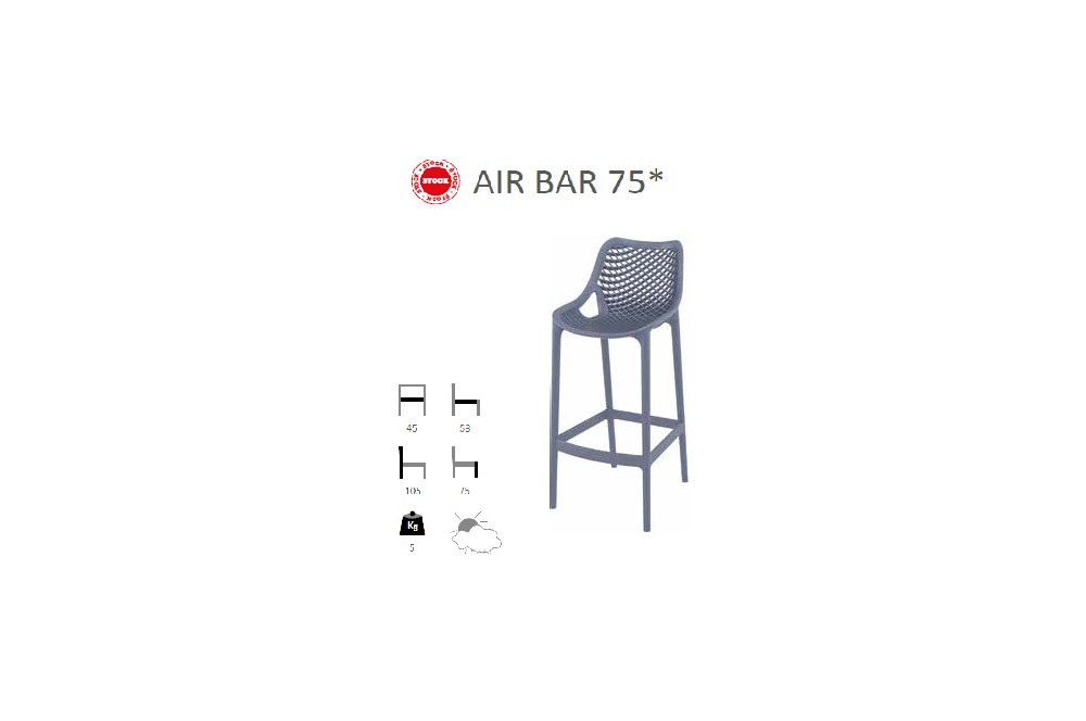 siege de bar air bar 75. Black Bedroom Furniture Sets. Home Design Ideas