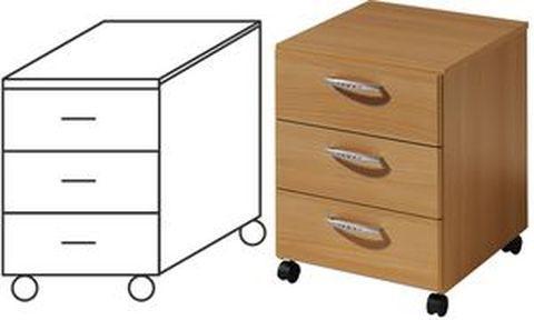 De meubles welle caisson mobile buro aktion gris bureau for Meuble bureau mobile