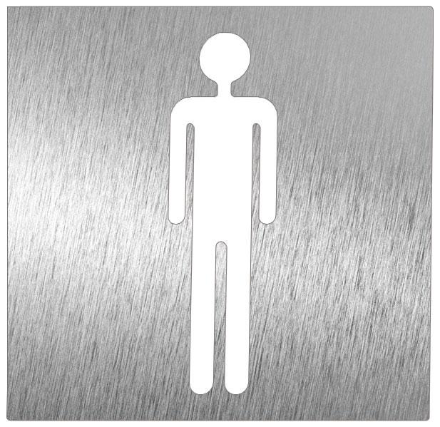 Pictogramme inox toilette homme comparer les prix de for Panneau inox autocollant