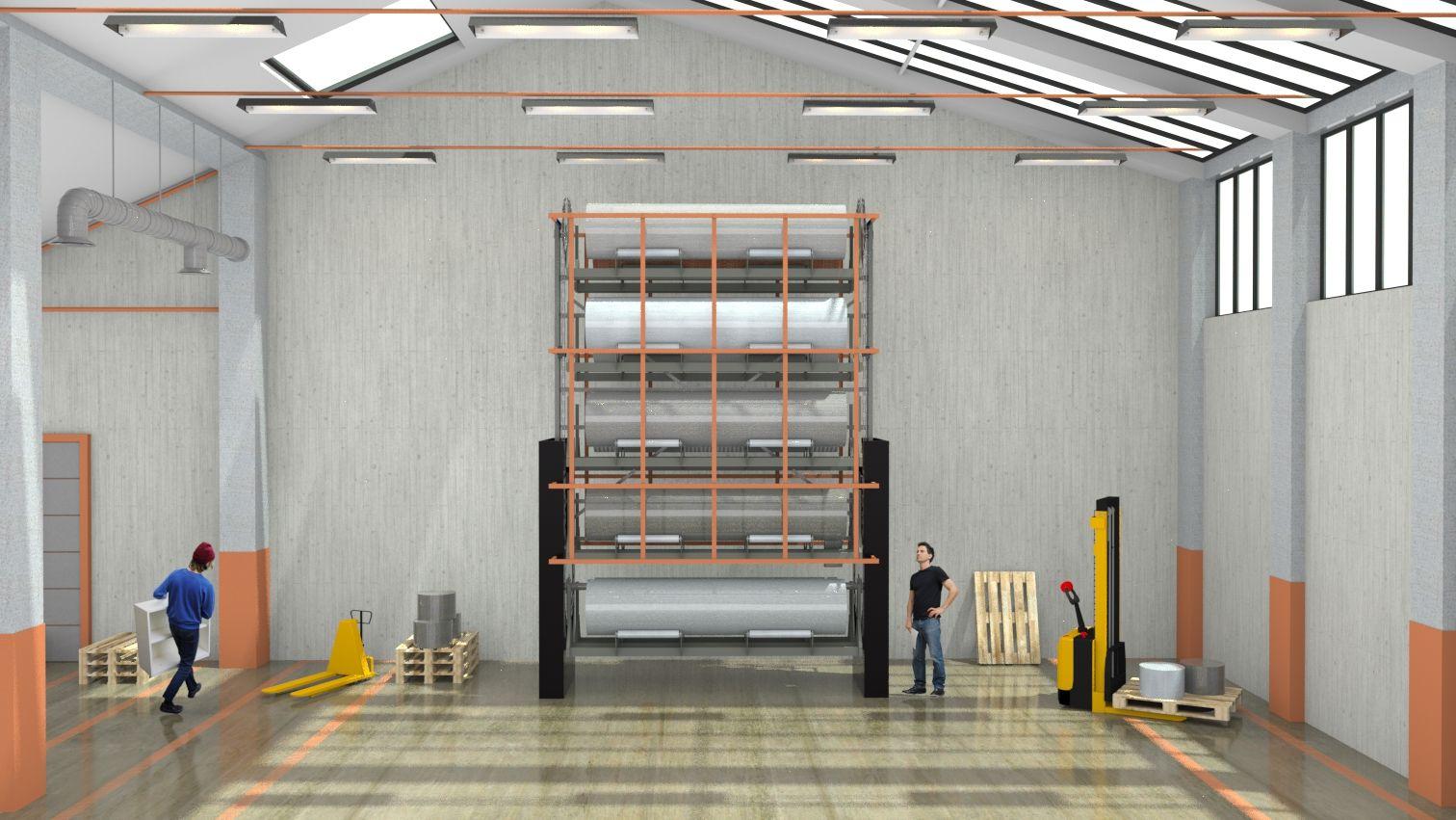 Stockage vertical automatique