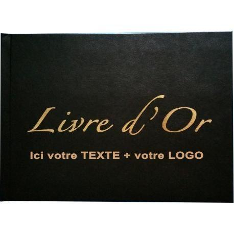 Livre D Or Personnalisable Format 21 X 29 7cm 150 Pages Couverture Aspect Cuir Noir Format Paysage A4
