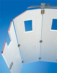 porte de garage coulissante manuelle - tempo - Portail De Garage Coulissant Sur Rail