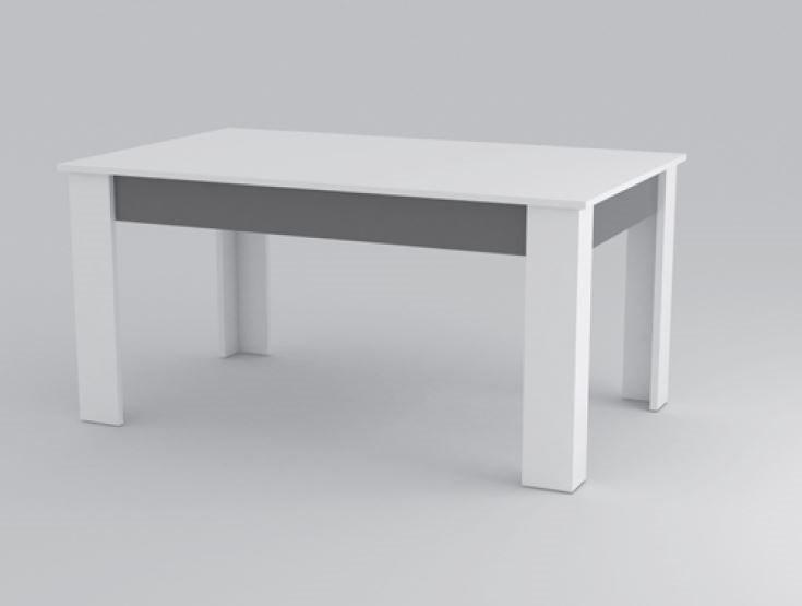 table repas mito blanche et grise comparer les prix de table repas mito blanche et grise sur. Black Bedroom Furniture Sets. Home Design Ideas