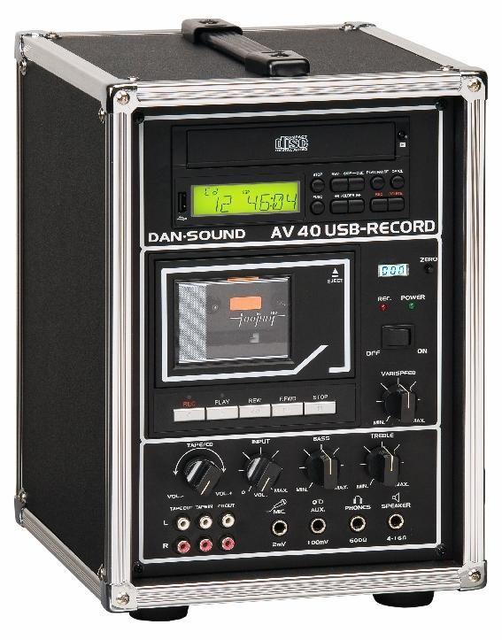 LECTEUR CASSETTES/CD/USB DAN SOUND AV40 COMBI USB RECORD