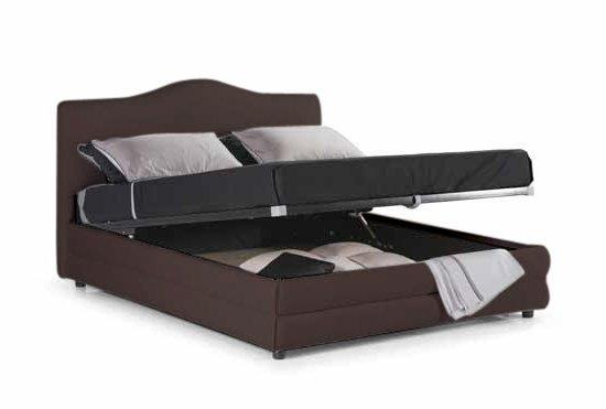 lit coffre design charlotte marron chocolat 1 personne 80 190cm. Black Bedroom Furniture Sets. Home Design Ideas