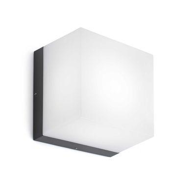 applique murale ext naomi led 6w gris fonce faro 70636. Black Bedroom Furniture Sets. Home Design Ideas