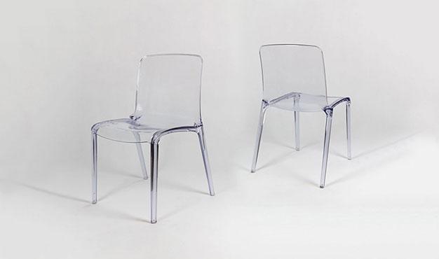 chaise transparente empilable contemporaine brak. Black Bedroom Furniture Sets. Home Design Ideas