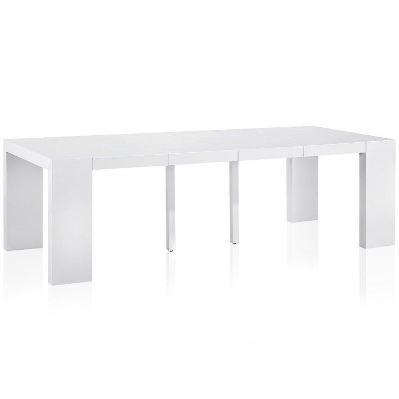 console extensible blanc maison design. Black Bedroom Furniture Sets. Home Design Ideas
