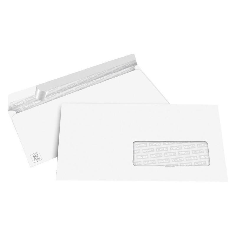 Enveloppes d 39 exp dition staples achat vente de for Enveloppe avec fenetre