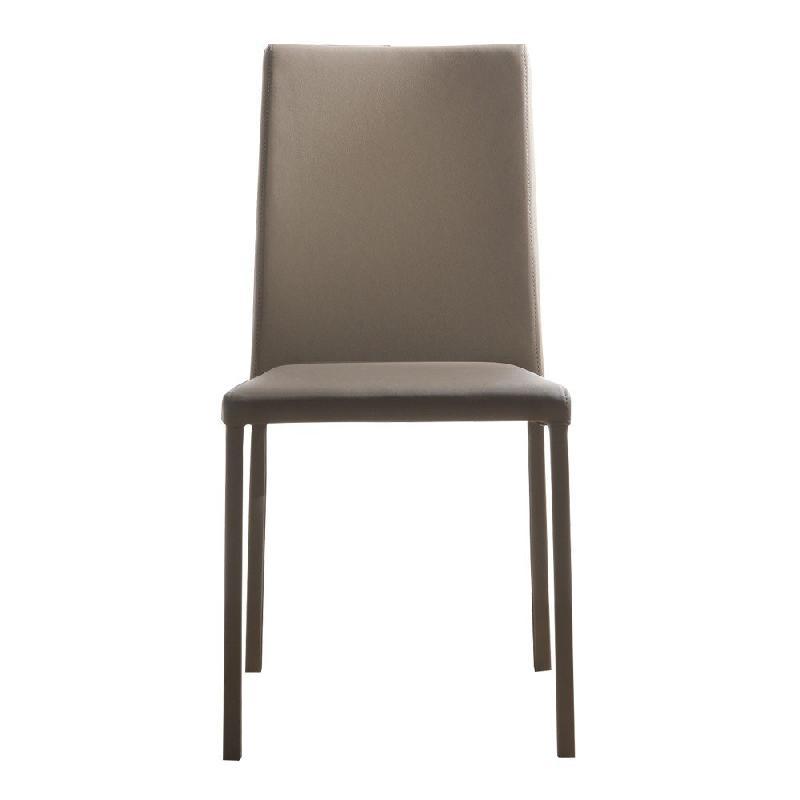 chaise cloe en tissu enduit polyur thane simili fa on cuir taupe comparer les prix de chaise. Black Bedroom Furniture Sets. Home Design Ideas