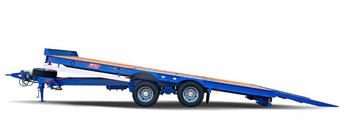 Remorque plateau pour poids lourd - amc-castera - modèle: tpcb 25 et tpcb 25 agricole