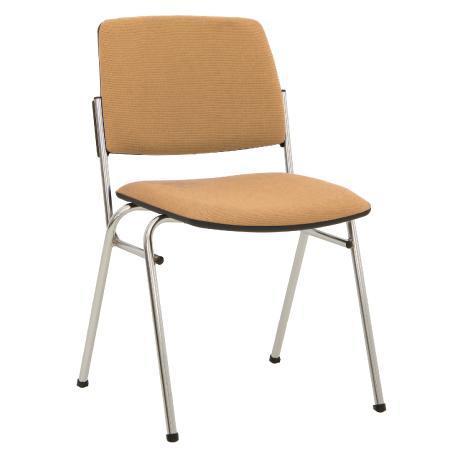 Siège visiteur, chaise de conférence isit chrome beige