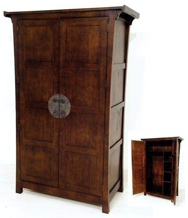 armoire en hevea massif md8353. Black Bedroom Furniture Sets. Home Design Ideas