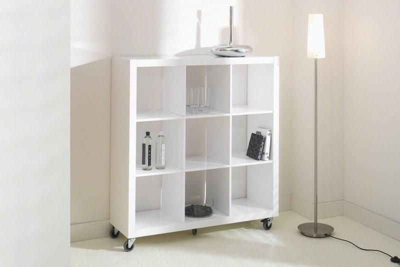 bibliotheque blanc laque maison design. Black Bedroom Furniture Sets. Home Design Ideas