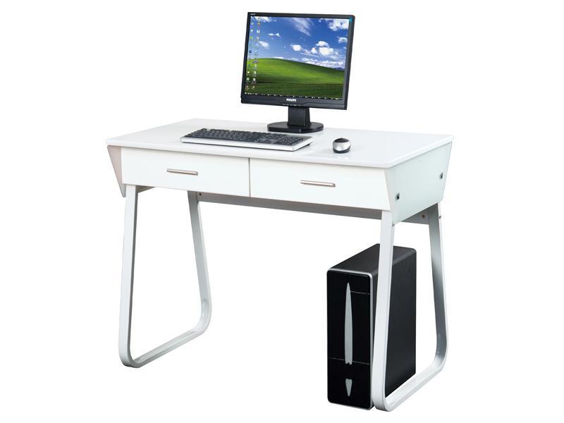 Bureaux informatiques comparez les prix pour for Bureau multimedia blanc