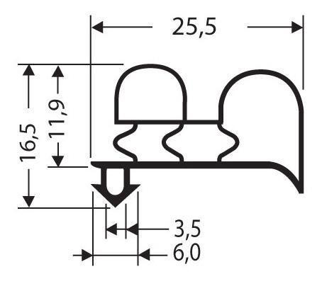 joint pvc a clipser sans aimant pour meubles frigos jpc 009. Black Bedroom Furniture Sets. Home Design Ideas
