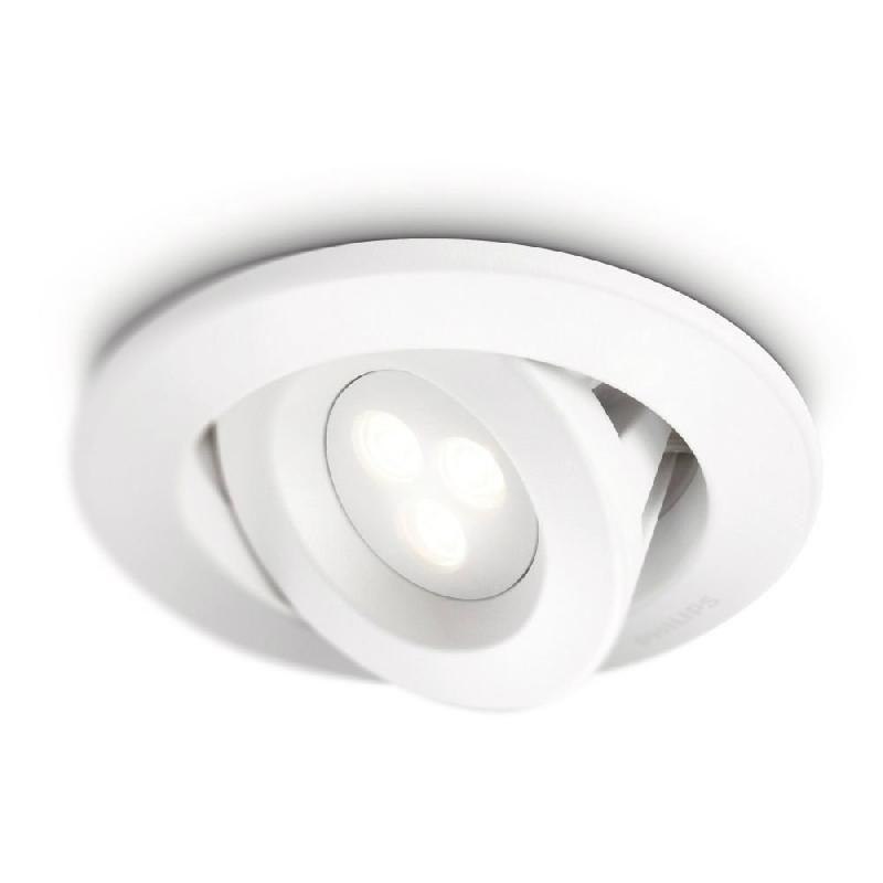 CARNET - SPOT ENCASTRABLE LED DE SALLE DE BAIN BLANC Ø12CM - SPOT PHILIPS DESIGNÉ PAR