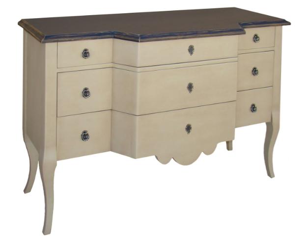 commode 3 tiroirs l 130 cm en bois massif 39 39 ligurie 39 39 comparer les prix de commode 3 tiroirs l. Black Bedroom Furniture Sets. Home Design Ideas