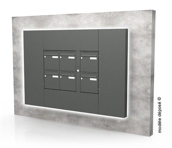 boites aux lettres multiples seiz9eme. Black Bedroom Furniture Sets. Home Design Ideas