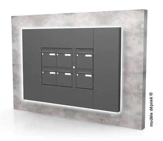 Boîtes aux lettres collectives seiz9ème   intérieure   en acier   gris Produit  neuf e85d1887863c