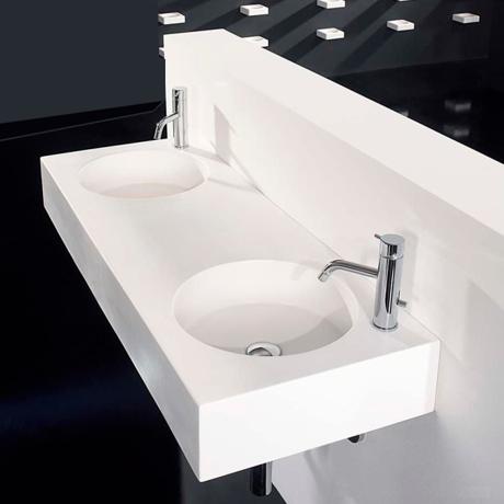 lavabo suspendu en r sine scene 120x45 39 ludic 39 comparer. Black Bedroom Furniture Sets. Home Design Ideas