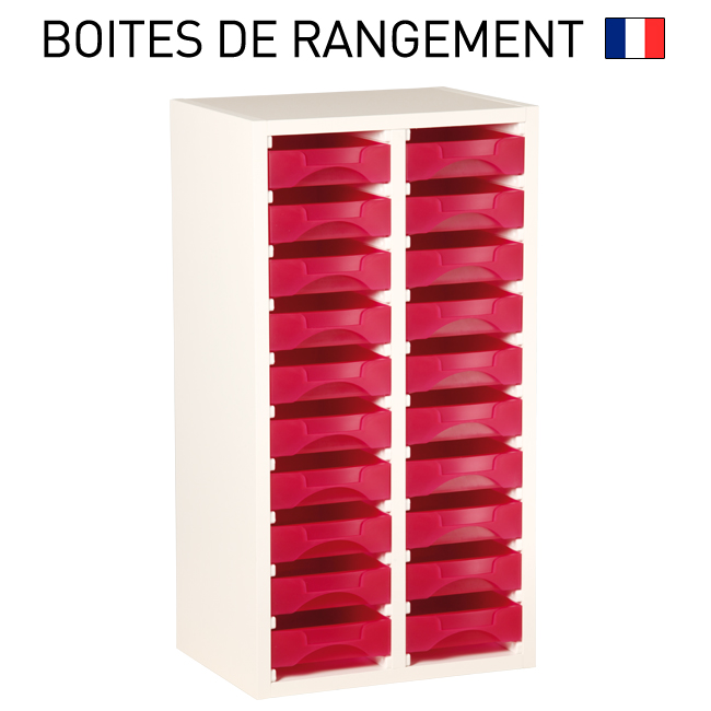 meuble bois blanc pour boites de rangement starbox ref msbb. Black Bedroom Furniture Sets. Home Design Ideas