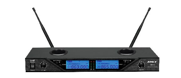 DOUBLE MICROPHONE SANS FIL UHF BST UDR-208
