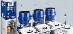 Machines de tribofinition à force centrifuge série cf standard
