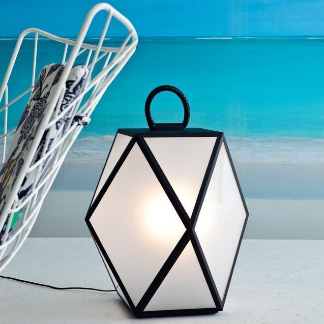 Muse lampe d 39 ext rieur baladeuse noir h60cm luminaire for Baladeuse design exterieur