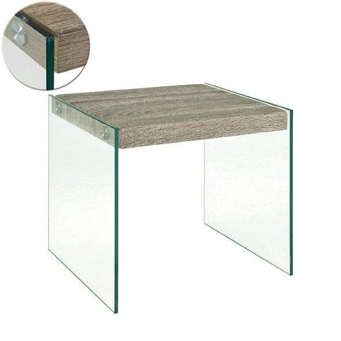 table basse nina en verre et chene gris inside75. Black Bedroom Furniture Sets. Home Design Ideas