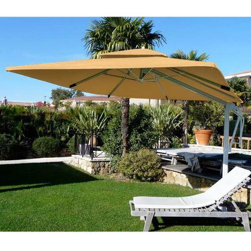 parasol aluminum carr 3x3m decor d honfleur jaune comparer les prix de parasol aluminum carr. Black Bedroom Furniture Sets. Home Design Ideas