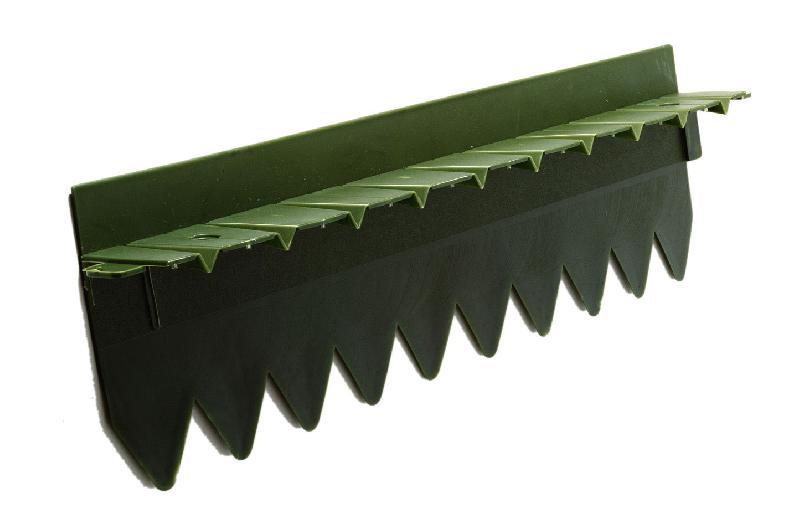 Bordure stop herbe avec rebord sur lev vert fonc for Bordures castorama
