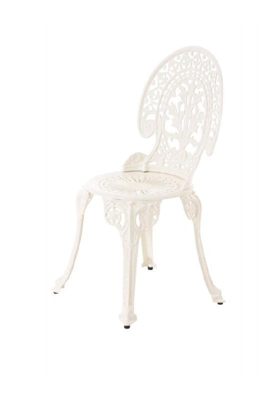 Chaise de bistrot jardin en fonte d 39 aluminium cr me d coshop26 comparer - Chaise bistrot aluminium jardin ...